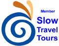Slow Travel Tours logo 120 px wide
