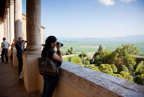 Elaine1 From Pisa to Pienza
