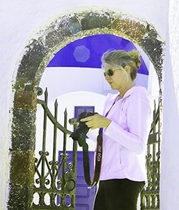 Stephanie in Santorini