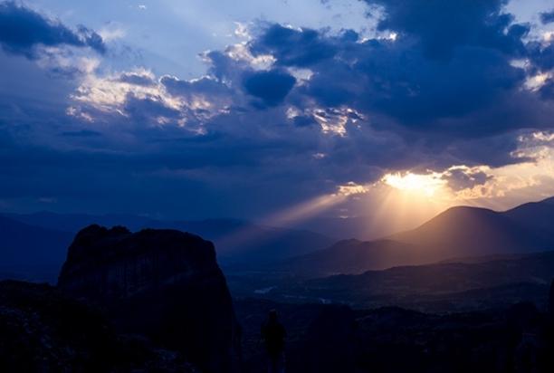 Meteora_Greece_Sunset