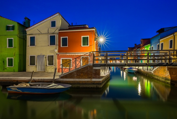 burano italy at night