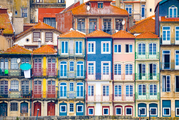 skinny houses, porto, portugal photo tour