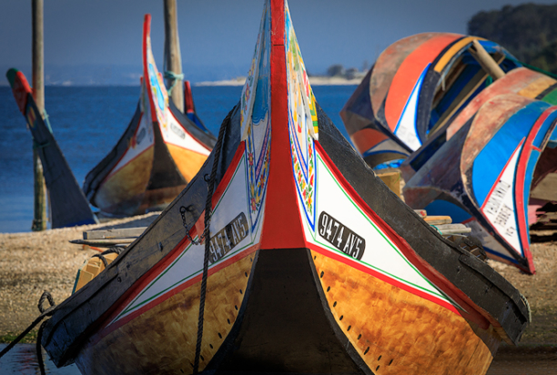 colorful fishing boats, Portugal photo Tour
